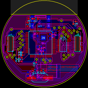 The layout for the master circuit board